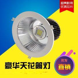 60度80W嵌入天花筒灯金卤筒灯改造LED光源