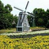河南鄭州紅日專業生產大型景觀水車防腐木水車電動風車