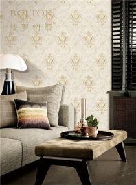 寶路通提花牆布,現代簡約美式無縫,中國牆布十大品牌