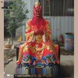 四海龙王神像 龙王爷佛像图片 龙王夫人彩绘树脂神像