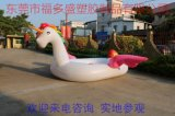 2018外贸新款充气独角兽浮岛 大型独角兽浮排浮床