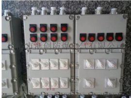 带防雨罩防爆配电箱,碳钢焊接防爆箱