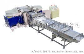全自动双桶磁力研磨生产线磁力研磨机磁抛机