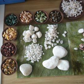 厂家直销白色鹅卵石 白色石头 白色小石子