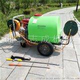 拉管式四轮推车打药机 汽油手推式高压喷雾器