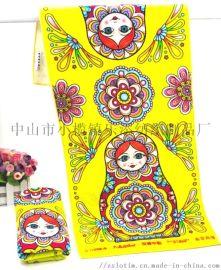 厂家定制广告纯棉活性印花运动毛巾