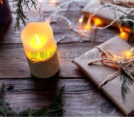 麻绳3件套LED蜡烛灯带遥控爆款氛围仿真蜡烛灯