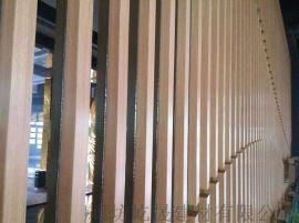 隔断方管转印木纹铝方管 型材铝管加工生产