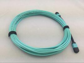深圳毅宏光通信MPO-MPO12芯24芯OM3万兆光纤跳线MPO母头/**