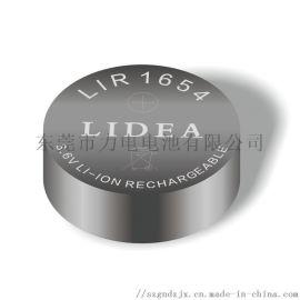3.6V可充锂离子扣式电池LIR1654
