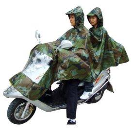170T涤纶/PVC双人头摩托车雨衣
