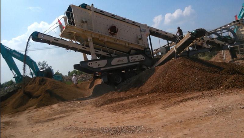 移动式破碎机-建筑垃圾破碎站-制砂机-破碎设备