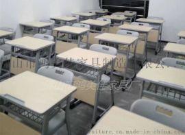 厂家定制塑料靠背钢木单/双人位儿童学生课桌椅