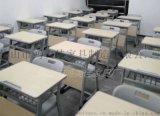 廠家定製塑料靠背鋼木單/雙人位兒童  課桌椅