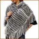 兔皮编织披肩
