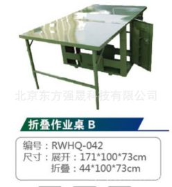 廠家直銷 數碼迷彩/軍綠戶外野戰折疊桌椅 野戰作業桌 指揮桌
