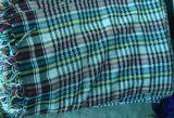 纯棉带银丝大方巾