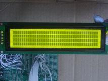 4004液晶屏 40*4字符点阵LCD液晶模块 黄绿屏带背光 5V