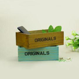 供应木质收纳盒 收纳箱 杂物收纳盒 饰品盒 木质花盆