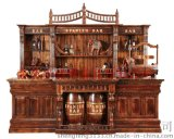 供应欧式吧台 古典实木欧式吧台 碳化防腐木大吧台