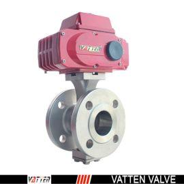 不锈钢材质V型法兰球阀 德国进口V型法兰球阀 电动V型调节球阀