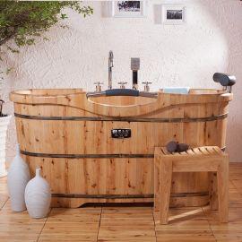 草木香木桶 香柏木沐浴桶 泡澡桶 实木浴缸桑拿桶长寿型浴桶