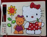 上海鷹倫兒童彩繪大號雪花泥批發木質畫板