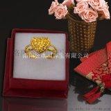 黄铜戒指现场加工 镀金仿金首饰品批发