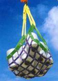 高强度大吨位尼龙吊货网兜 钢丝绳吊兜 聚乙烯绳抛石网兜 吊袋
