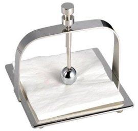 **不锈钢餐巾纸座 放餐桌上压做纸巾架 创意新颖