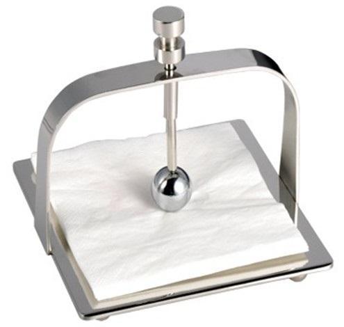 高档不锈钢餐巾纸座 放餐桌上压做纸巾架 创意新颖