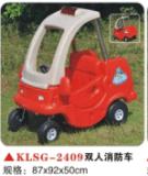 石家莊玩具廠 快樂時光兒童雙人 消防車兒童車 兒童電動車