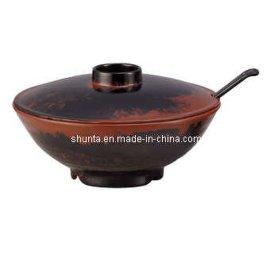 日式拉面碗仿瓷餐具 密胺餐具 密胺附盖面碗(美耐皿/科学瓷)