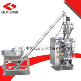【厂家】热款**全自动翻领式1kg奶粉包装机+输送机|粉末包装机