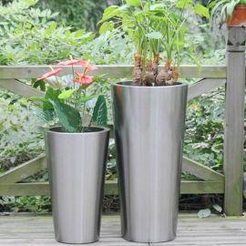 花盆容器定制批发 金属工艺品不锈钢花盆 多肉花盆 办公室花盆