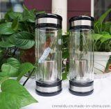 供應批發350ml水晶雙層玻璃杯真空隔熱無印花玻璃水杯水晶杯廠家直銷LOGO