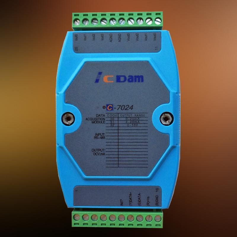 C-7024 4路14位模拟量输出模块 电压电流输出 兼容I-7024 AO