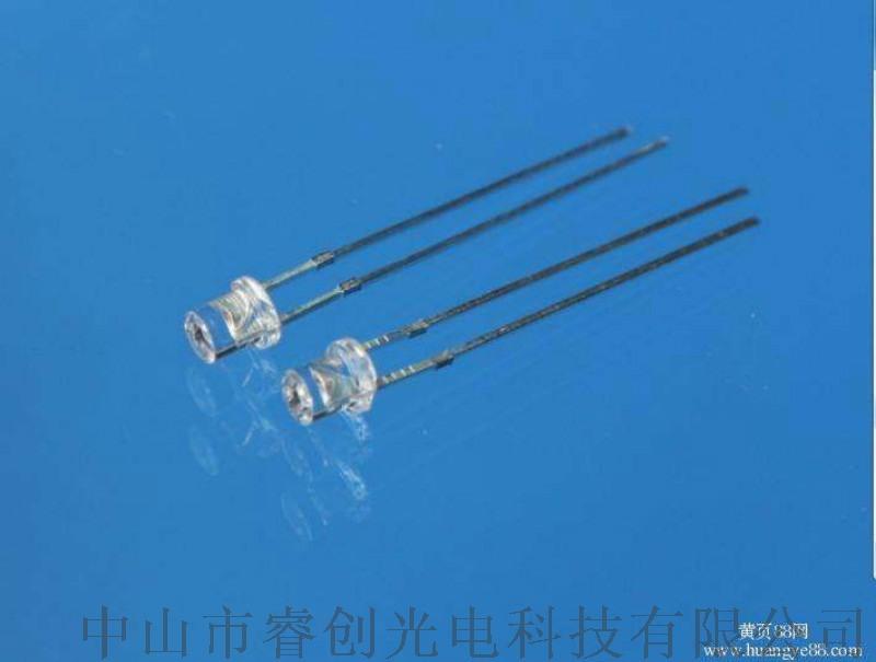 3MM内凹白光LED,灯饰灯串LED白光灯泡