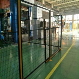 现货室内车间隔离网 仓库隔离护栏网 喷塑框架防护网