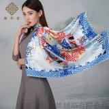 杭州工廠定制數碼印花真絲圍巾加工定制一條起訂