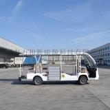 电动观光车改装观光车内部放置轮椅