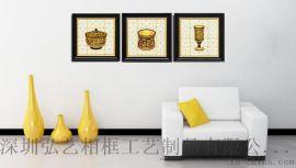 欧式静物花瓶酒杯装饰画 **酒店套房走廊客厅别墅三五联有框画