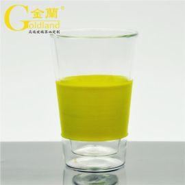 定制出口高硼硅雙層玻璃咖啡杯玻璃茶水杯辦公杯