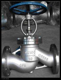 不锈钢高压硬密封法兰截止阀J41W-16P