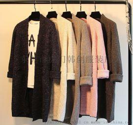便宜毛衣女装上衣针织衫秋冬库存服装便宜外套圆领毛衣
