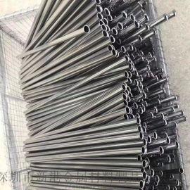 304不锈钢毛细管缩尖倒角磨尖打孔变径封圆头