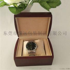 高档手表盒木质喷油表盒单只名表包装盒子首饰盒定制