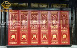 樂山寺廟門窗廠家,仿古門窗,大門定制