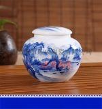 青花瓷陶瓷罐子生产厂家 定做茶叶罐 景德镇罐子工厂