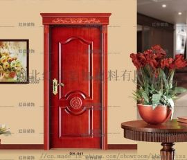 石家庄家居实木复合生态烤漆门红日装饰
